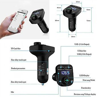 Bluetooth Fm Transmitter 1.1 Inch Screen Car Mp3 Player Low Consumption