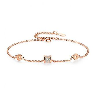 Bs16 Jewelry Female S925 Sterling Silver Small Waist Shiny Bracelet Light Luxury Exquisite Bracelet Personalized Gift