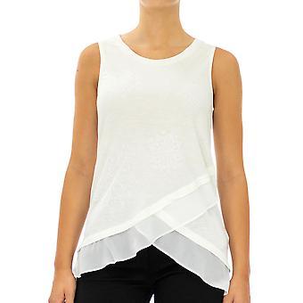 Desigual Women Knitted Sleeveless Tank top   Sleeveless White