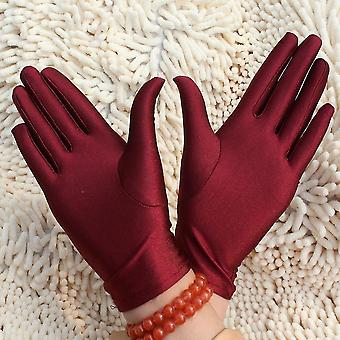 1 Pair- Thin Well Stretched Spandex Fitness Jewelry Gloves