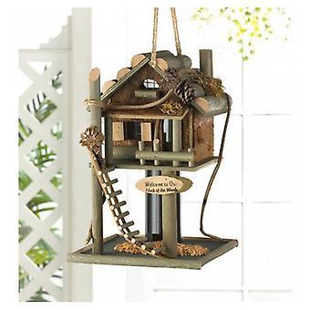 Songbird Valley bjælkehytte Treehouse Bird Feeder, Pakke med 1