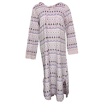 Soft & Cozy Women's Fleece Hooded Lounger with Pockets Pink 663003