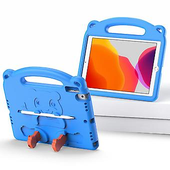 Case For Ipad 6 9.7 2018,shockproof Lightweight Convertible Handle Stand Protective Kids Child Cover - Blue Panda