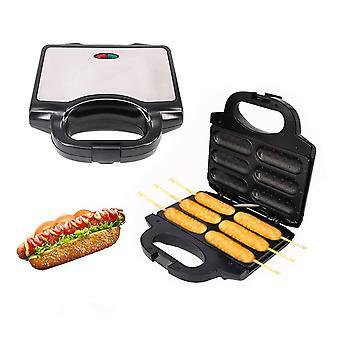 Elektrisk 850W Hot Dog Non Stick Coating Waffles Maker Krispig majs fransk muffinkorv