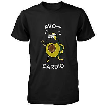Avocardio おかしい男性のシャツかわいいワークアウト ティー心臓短い半袖 t シャツ
