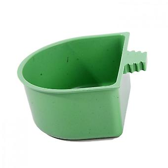 3-piece Semicircular Food Container For Pet Parrots
