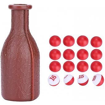 16 Numbered Perfect Billiard Accessories Rubber Pool Dice, Large Shaker Bottle, For Kelly Pool, Peas Pill Pools More