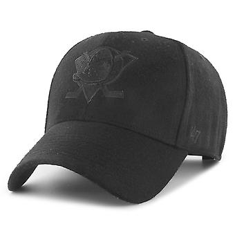 47 Brand Curved Snapback Cap - MELTON Anaheim Ducks zwart