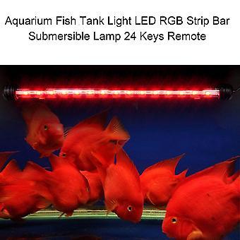 Aquário Aquário Aquário Tanque de Peixe Luz Led Rgb Strip Bar Submersible Lamp 24 Chaves Remota