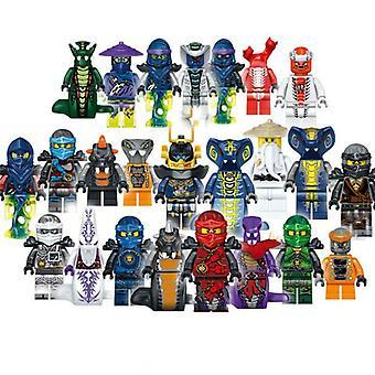 24pcs / Lot Plastique Mini Phantom Ninjago Figure Diy Toys