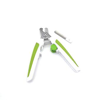 Safety Nail Clippers For Dogs And Cats Stainless Steel Blade, With Safety Lock And Nail File, Fits Large And Small Pet Nail Clippers