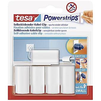 tesa 58035-16-01 Tesa Powerstrips ® kabelklipp hvitt innhold: 5 stk(er)