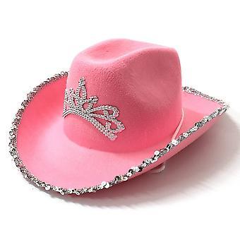 Yesfit Western Cowboy Kalap Sapka, Korona, Utazási teljesítmény Nők Hatspink