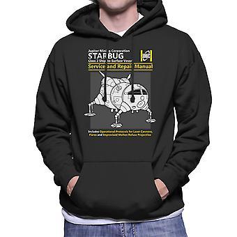 Red Dwarf Starbug Service And Repair Manual Men's Hooded Sweatshirt
