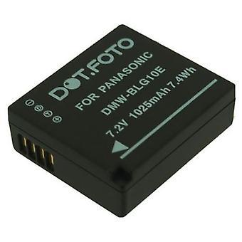 Dot.Foto Panasonic DMW-BLE9, DMW-BLE9E, DMW-BLG10, DMW-BLG10E erstatningsbatteriet