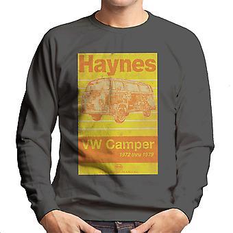 Haynes Workshop Manual Volkswagen Camper 1972 Stripe Men's Sweatshirt