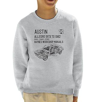 Haynes Workshop Manual 0164 Austin Allegro Black Kid's Sweatshirt