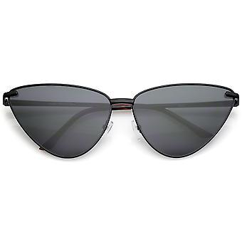 超大金属猫眼太阳镜超薄框架平透镜 65 毫米