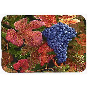 Grapes Of Joy by Malenda Trick Glass Cutting Board Large