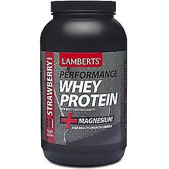 Lamberts Whey Protein Strawberry Flavour, 1000g Powder
