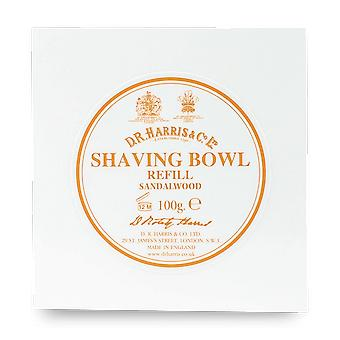 D R Harris Sandalwood Shaving Bowl Refill 100g