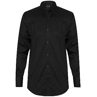 Antony Morato Plain Black 'Super Slim' Fit Shirt