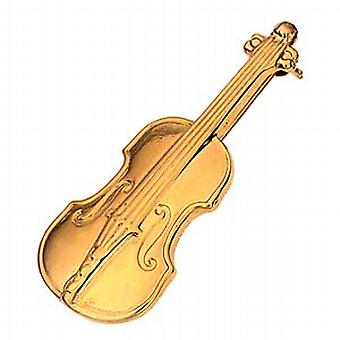 9ct Gold 43x17mm Violin Brooch