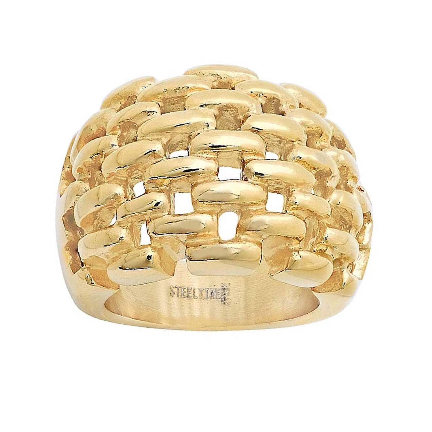 Ladies 18 Kt Gold Plated Cut-Out Ring
