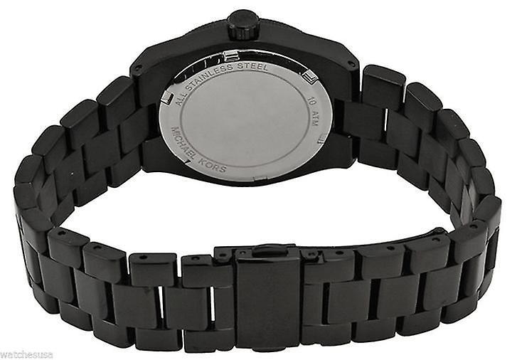 Michael Kors Mini Channing montre Ion noir Bracelet cadran noir MK6100
