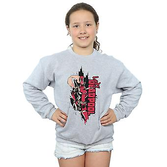 Marvel Girls Deadpool Lady Deadpool Sweatshirt