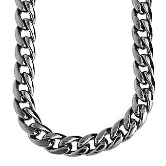 Iced out bling CMD curb chain - 10 mm black