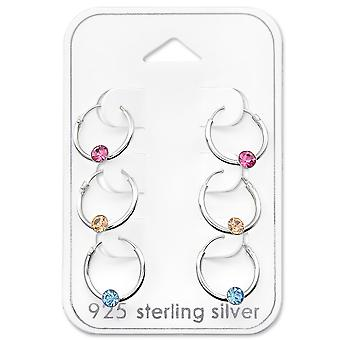 Round - 925 Sterling Silver Sets - W29114X