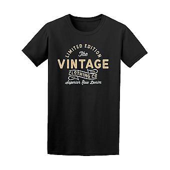 Limited Edition Vintage vaatteet Tee Men-kuva: Shutterstock