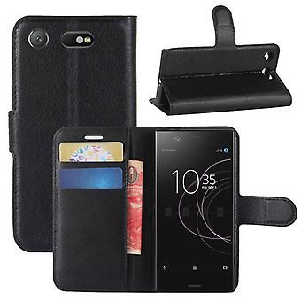Kieszeń na portfel premium czarny Sony Xperia XZ1 Compact / Mini ochronny Pokrowiec etui