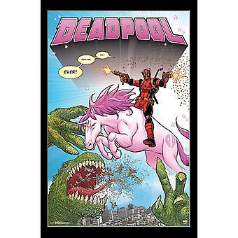 Deadpool - Unicorn Poster Print