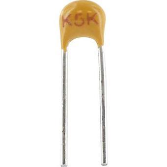 Kemet C315C821J1G5TA + Keramik Kondensator Radial 820 pF 100V 5 % Blei (L x b x H) 3,81 x 2,54 x 3,14 mm 1 PC