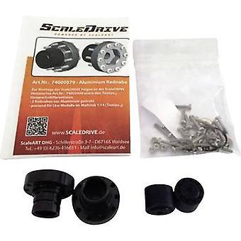 ScaleDrive 74000079 1:14 Rear axle aluminium wheel hib 1 pair