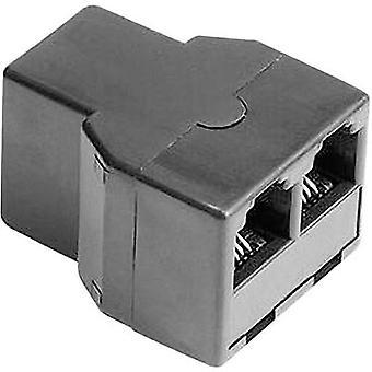 Adaptador de Hama Western Y [1 x RJ11 soquete 6p4c - 2 x RJ11 6p4c soquete] 0 m preto