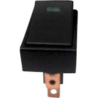 SCI Car toggle switch R13-207L-SQ GREEN 12V/DC 12 V DC 20 A 1 x Off/On latch 1 pc(s)