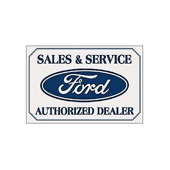 Ford Sales And Service Metal Sign