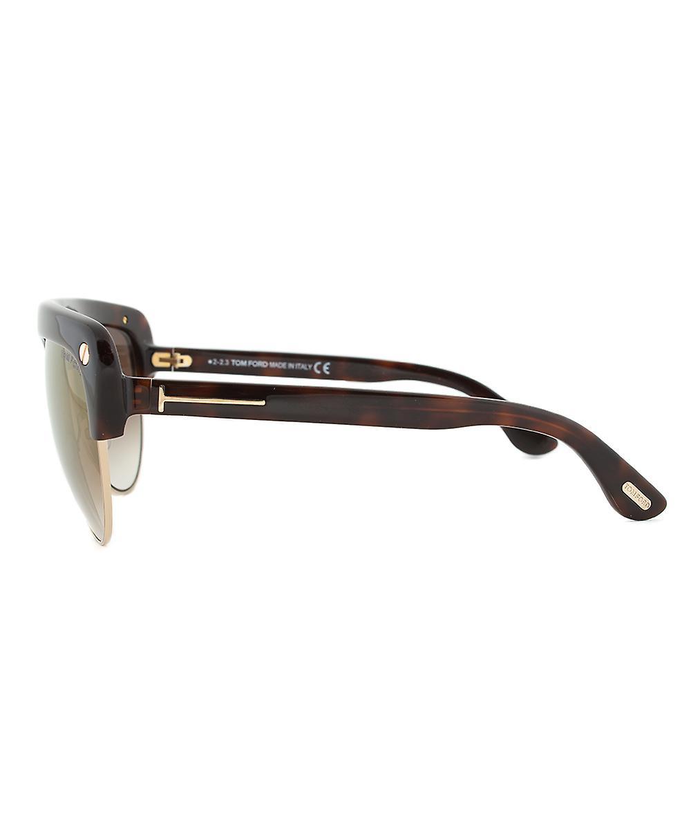 Tom Ford FT0318 52G Liane Shield Sunglasses - Tortoise Brown Frame   Brown Gradient Lens