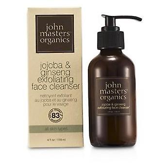 John Masters Organics Jojoba & Limpiador facial exfoliante de ginseng - 107ml/3.6oz
