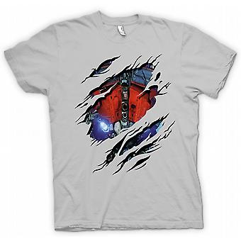 Mens T-shirt - Optimus Prime gerippten Design - Transformatoren inspiriert