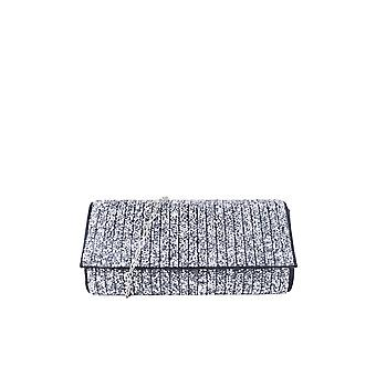Lovemystyle Sort Glitter Side taske med sølv Metal rem