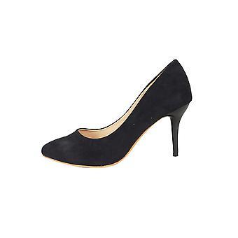 Lovemystyle Black Velvet Heeled Court Shoes
