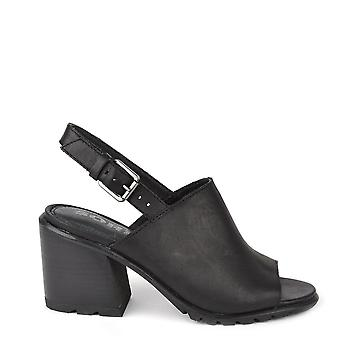 Sorel Nadia Black Leather Slingback Sandal