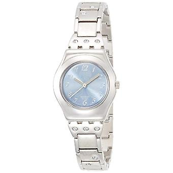 Swatch ladies analog quartz watch with stainless steel band _ YSS 222G