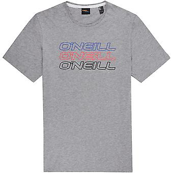 Camiseta O'Neill hombres ~ plata Logo de Triple