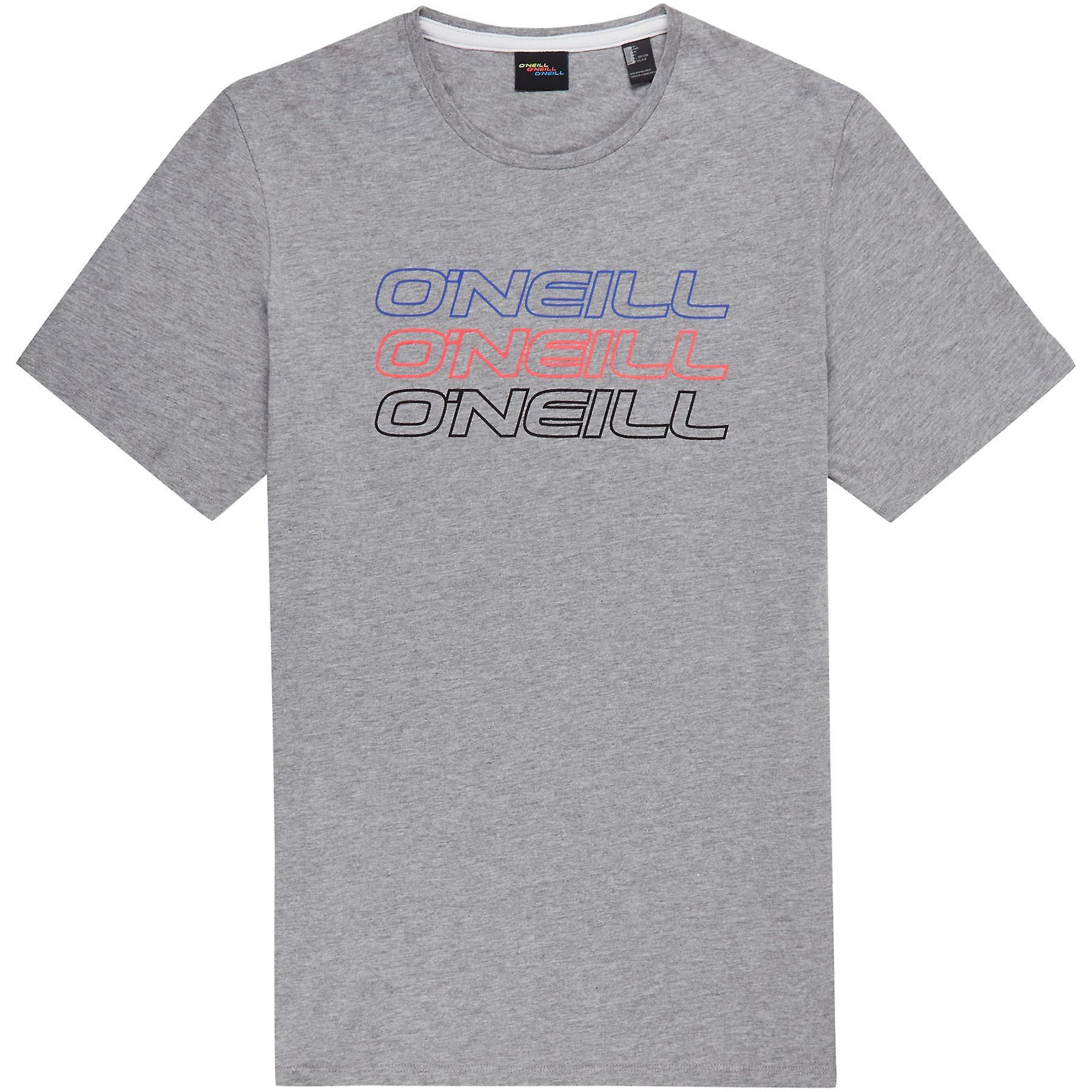 O'Neill Men's T-Shirt ~ Triple Logo silver