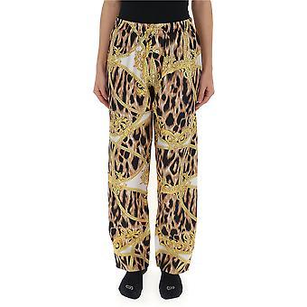 Versace Leopard Silk Pants